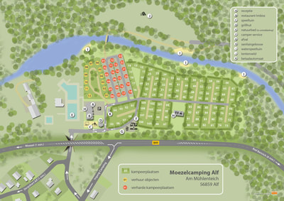 camping plattegrond